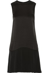 Belstaff Gatwick Crepe De Chine Mini Dress Black