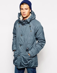 Selected Premium Arctic Borg Lined Parka Navy