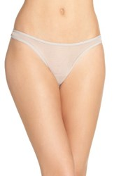 Cosabella Women's 'Soire' Low Rise Mesh Thong Shadow