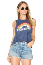 Spiritual Gangster Retro Rainbow Tank Blue