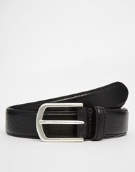 Esprit Leather Belt Stitch Black