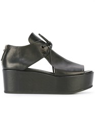 Marsell Tie Front Platforms Black