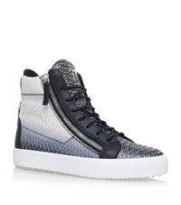 Giuseppe Zanotti Snake Print High Top Sneakers Male Black