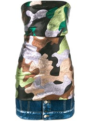 Dsquared2 Camouflage Print Mini Dress Multicolour