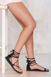 Nasty Gal Adios Lace Up Leather Sandal