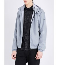 Armani Jeans Stand Collar Shell Jacket Silver