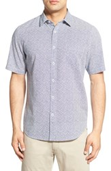 Toscano Men's Regular Fit Short Sleeve Print Sport Shirt