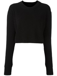 Diesel Black Gold Cropped Jumper Black
