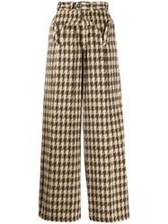 House Of Sunny Houndstooth Print Trousers 60