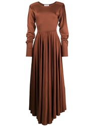 Christophe Lemaire Flared Maxi Dress 60