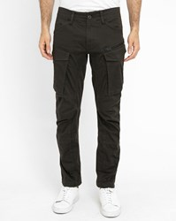 G Star Black Rovic Zip 3D Washed Army Cargo Trousers