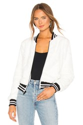 Bailey 44 Back Country Faux Fur Bomber Jacket White