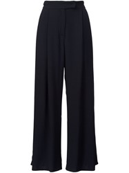 Dusan Wide Leg Cropped Pants Black