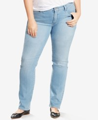 Levi's Plus Size 414 Relaxed Fit Straight Leg Jeans Light Blue