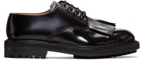 Alexander Mcqueen Black Fringed Derbys