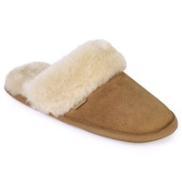 Just Sheepskin Duchess Mule Slippers Chestnut
