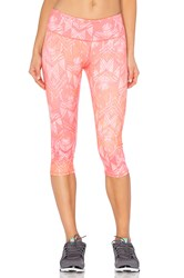 Alo Yoga Airbrush Capri Orange