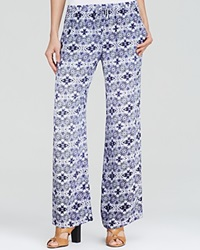 Twelfth St. By Cynthia Vincent Twelfth Street By Cynthia Vincent Pants Abstract Print Drawstring Waist Evil Eye Print Eye