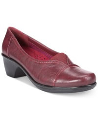 Easy Street Shoes Easy Street Chive Slip On Flats Women's Shoes Berry