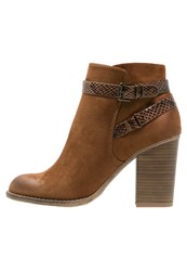 Dorothy Perkins Adda High Heeled Ankle Boots Brown