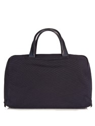 Alvaro Canvas And Leather Holdall Bag Navy