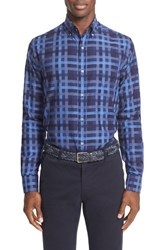 Paul And Shark Men's Graphic Check Sport Shirt