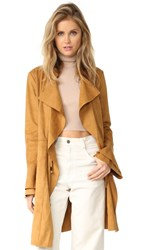 Free People Faux Suede Meadow Jacket Sand