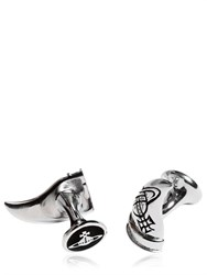 Vivienne Westwood Tooth Cufflinks With Logo Details