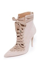 Zimmermann Lace Up Ankle Booties Blush