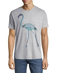 Civil Society Sublimation Flamingo T Shirt Gray