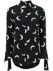 Saint Laurent Printed Shirt Silk Black