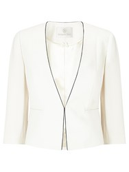 Jacques Vert Crepe Piped Jacket Light Neutral