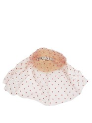 Maison Michel Vic Polka Dot Tulle Headpiece Pink