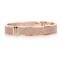 River Island Womens Rose Gold Tone Glitter Cuff