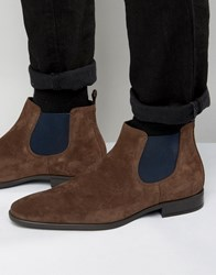 Dune Martime Suede Chelsea Boots Brown