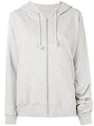 Maison Martin Margiela Mm6 Zipped Hoodie Women Cotton Xs Grey