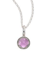 Ippolita Amethyst Diamond And Sterling Silver Lollipop Charm