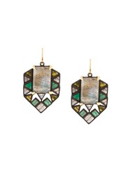 Nak Armstrong Geometric Earrings Green