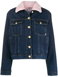 Gcds Logo Patch Denim Jacket Blue