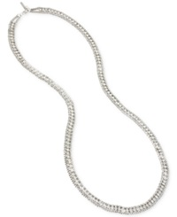 Kenneth Cole New York Long Detailed Chain Necklace Silver