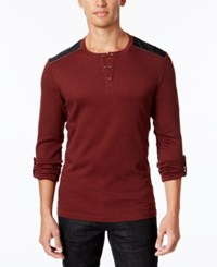 Inc International Concepts Men's Sym Henley Only At Macy's Sweet Cinnamon
