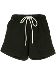 Bassike Washed Herringbone Beach Shorts Black