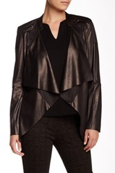 Insight Cracked Faux Leather And Faux Suede Jacket Metallic