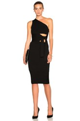 Cushnie Et Ochs Asymmetrical Maxi Dress In Black