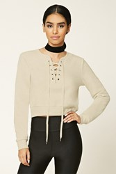 Forever 21 Lace Up Pullover
