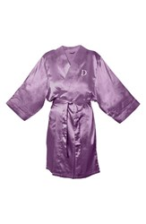 Women's Cathy's Concepts Satin Robe Purple D
