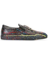 Philipp Plein Paint Splatter Print Sneakers Black