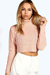 Diana Turtle Neck Cable Crop Jumper