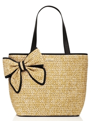 Kate Spade Belle Place Straw Summer Natural Black