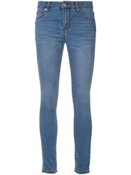 Loveless Low Rise Skinny Jeans Blue